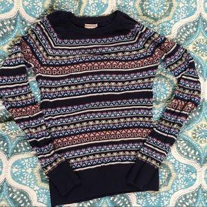 Merona Sweaters - Merona Blue Fair Isle Print